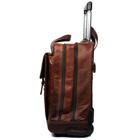 ... Voyager Vertical Laptop Wheeler 7844 Brown ...