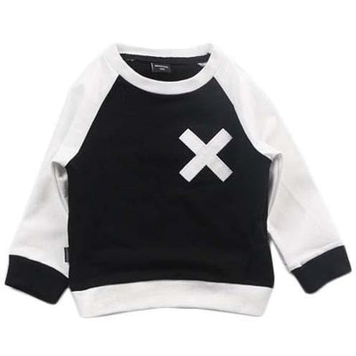 X Black and White Sweater