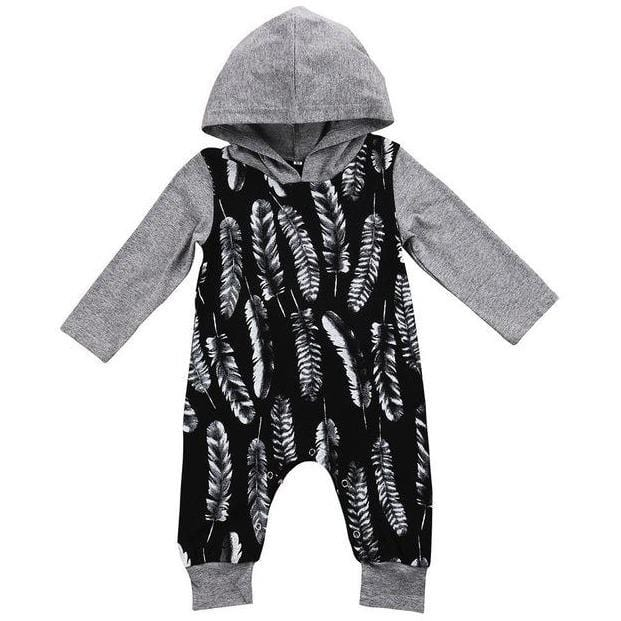 Feather Hooded One Piece