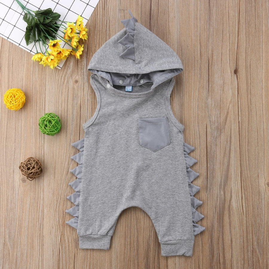 Dino Spikes Hooded Romper