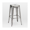 Dreux Gunmetal Steel Stackable Barstool 30 Inch (Set of 4)