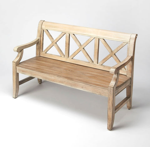 Gerrit Bench in Driftwood Finish