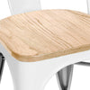 Dreux Glossy White Light Elm Wood Stackable Side Chair (Set of 4)