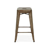 Dreux Rustic Matte Steel Stackable Barstool 30 Inch (Set of 4)