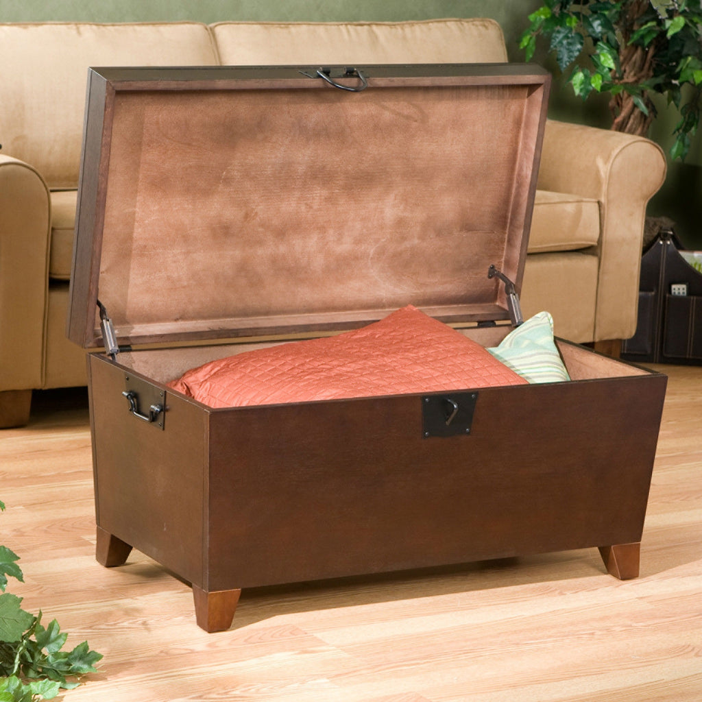 Lift top trunk style coffee table in espresso finish anjas attic lift top trunk style coffee table in espresso finish geotapseo Image collections