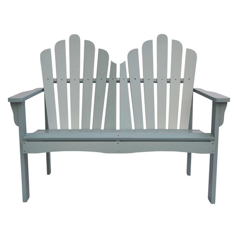 Outdoor Cedar Wood Garden Bench Loveseat in Dutch Blue Finish