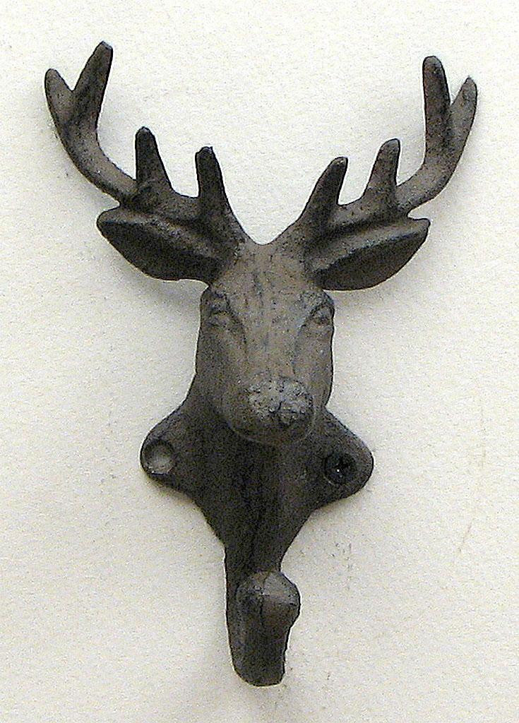 Cast Iron Elk Hook