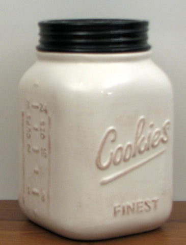 Mason Jar Ceramic Cookie Jar