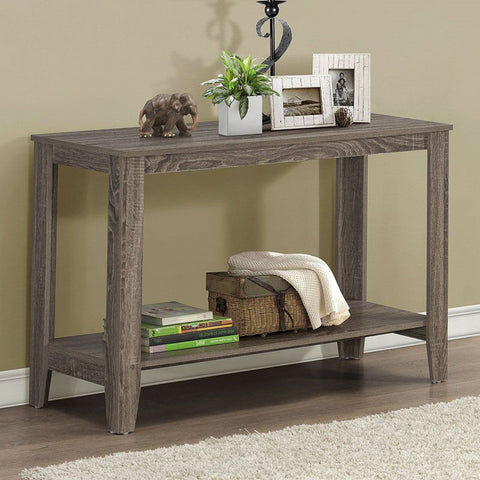 Sofa Table Console Table in Dark Taupe Wood Finish