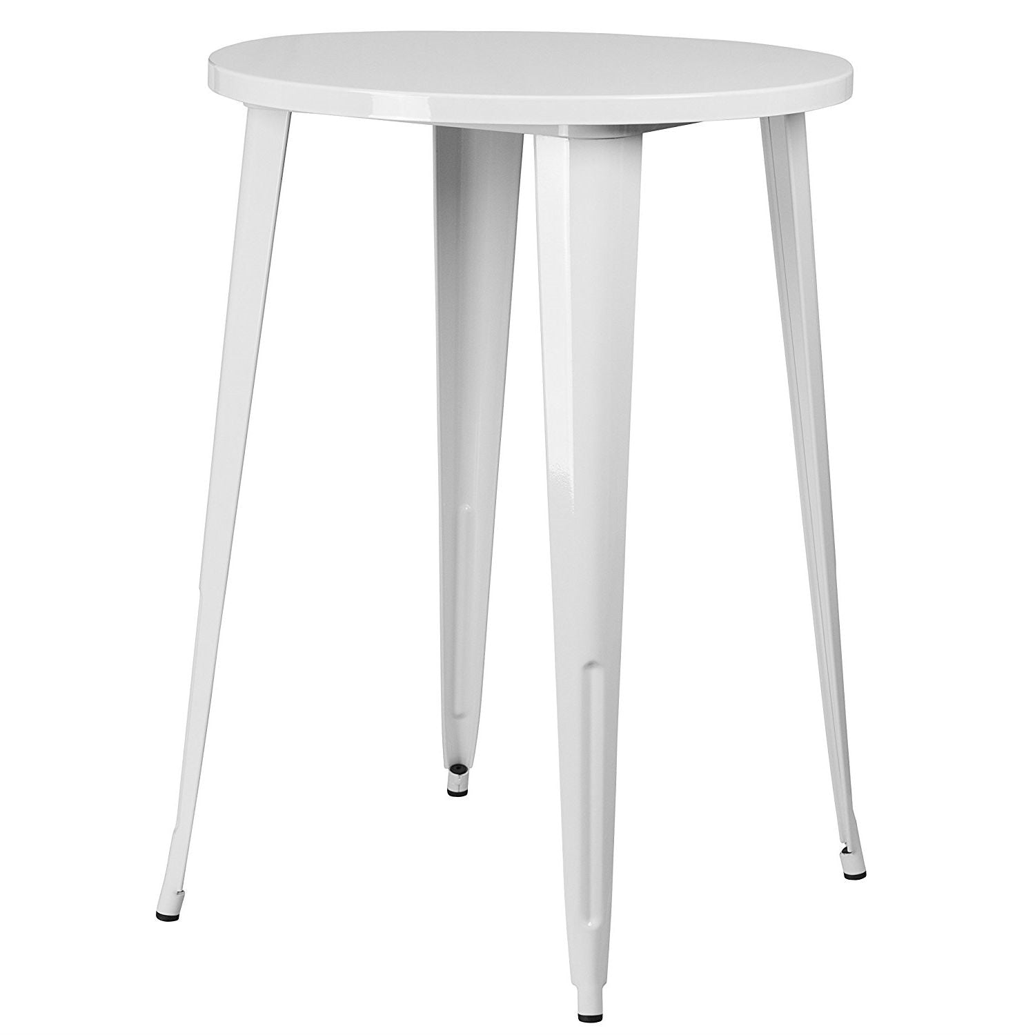 White Inch Round Outdoor Metal Bar Bistro Patio Table Anjas Attic - 30 inch round outdoor table