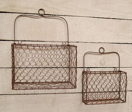 Farmhouse Chickenwire Storage Baskets (set of 2) – Anja\'s Attic