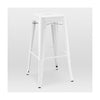 Dreux Glossy White Steel Stackable Barstool 30 Inch (Set of 4)