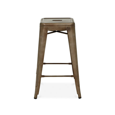 Dreux Rustic Matte Steel Stackable Counter Stool 26 Inch (Set of 4)