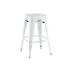 Dreux Vintage Matte White Black Stackable Counter Stool 26 Inch (Set of 4)