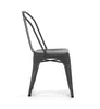 Dreux Matte Black Steel Stackable Side Chair (Set of 4)