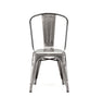 Dreux Gunmetal Steel Stackable Side Chair (Set of 4)