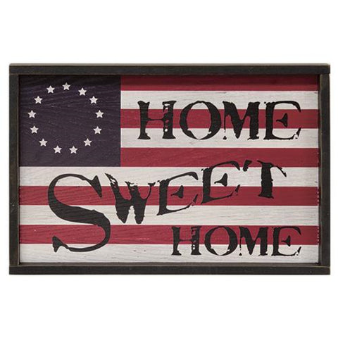 "Vintage Americana Sign: ""Home Sweet Home"""