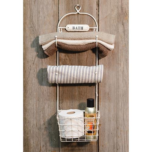 Superieur Vintage Hanging Bathroom Organizer