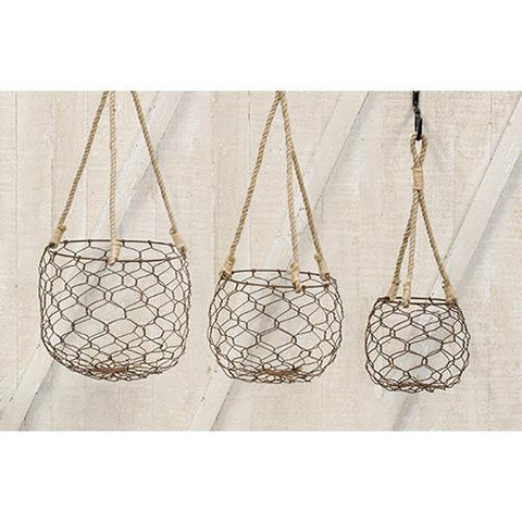 Wire Lantern Baskets (set of 3)
