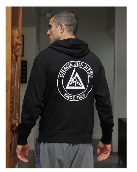 Gracie Black Zip Hoodie - The Fight Factory