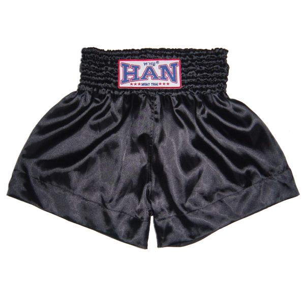 Han Muay Thai Shorts Black