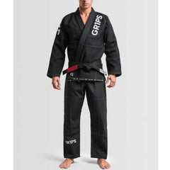 Grips Primero Competition BJJ Gi - Black - The Fight Factory