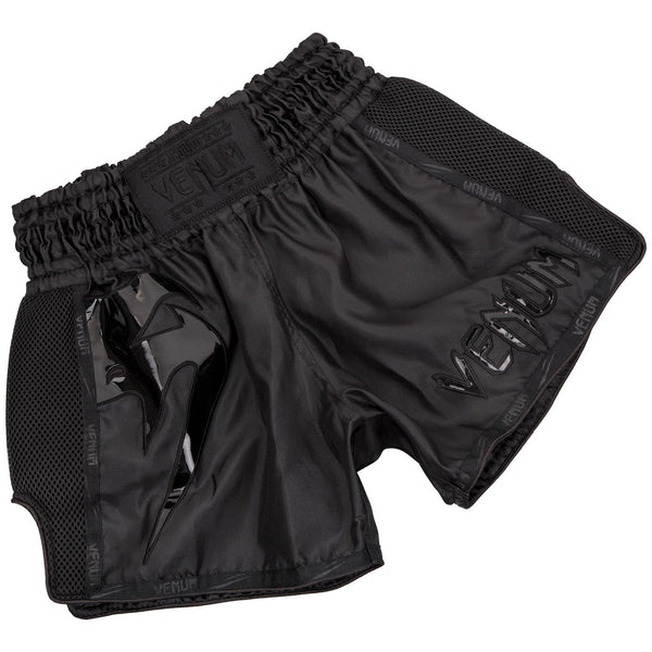 Venum Giant Muay Thai Shorts - Black/Black - The Fight Factory