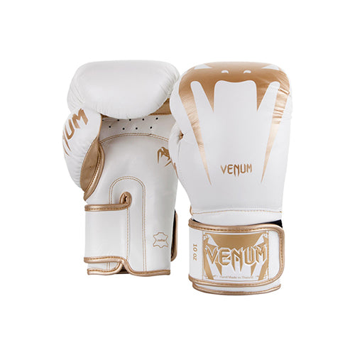 Venum Giant 3.0 Boxing Gloves - White Gold - The Fight Factory