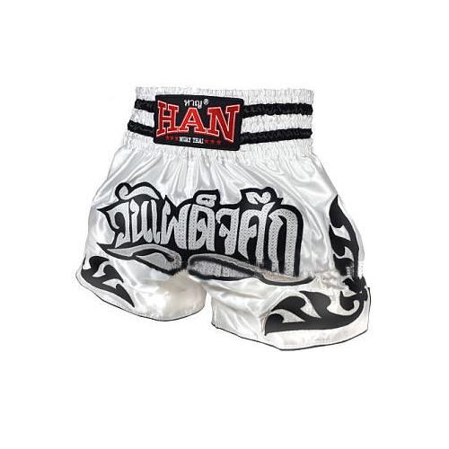 Han Muay Thai Shorts - The Showdown - White