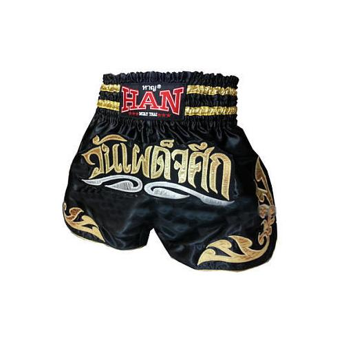 Han Muay Thai Shorts - The Showdown Black - The Fight Factory