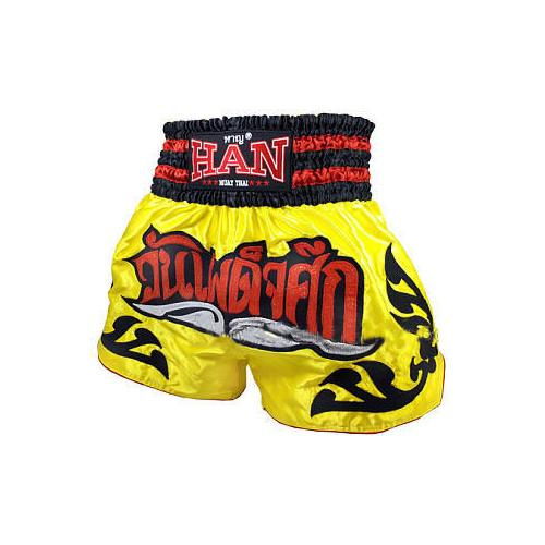 Han Muay Thai shorts The Showdown - Yellow - The Fight Factory