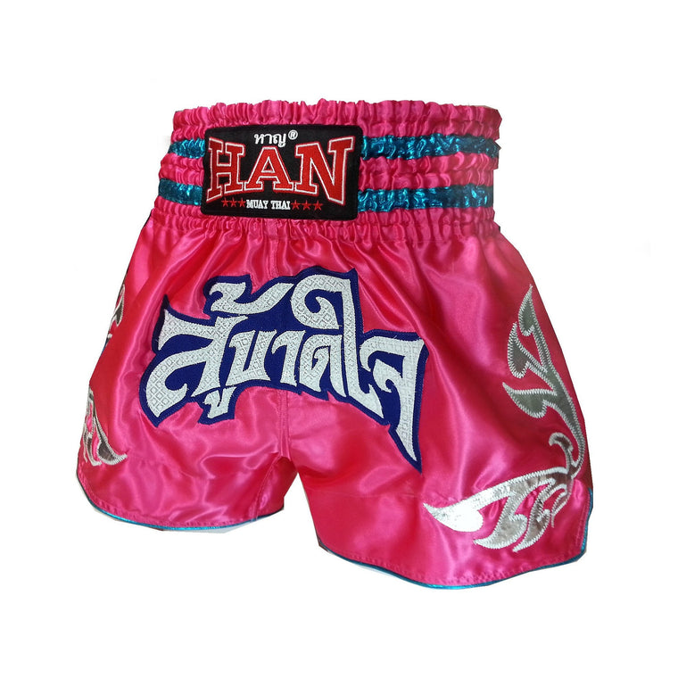 Han Muay Thai Shorts - Fight Till Death - Pink