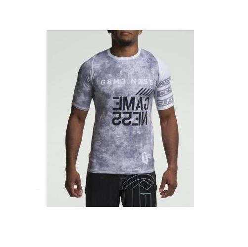 Gameness Marble Grey Rash Guard - The Fight Factory