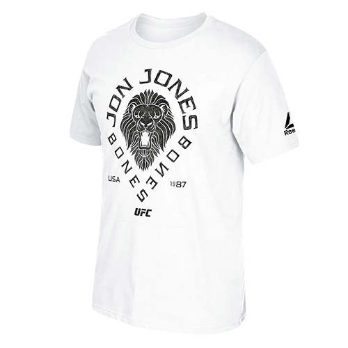 UFC Reebok Jon Jones Black Lion T-Shirt