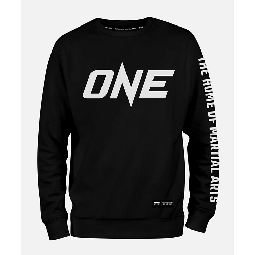 ONE Black Logo Sweatshirt - The Fight Factory