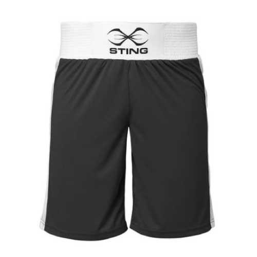 Sting Mens Mettle Boxing Shorts - Black - The Fight Factory