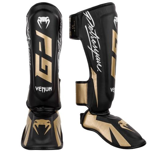 Venum Petrosyan Shinguards Black-Gold