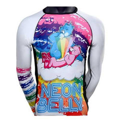 Jits Rashies Kids Neon Belly Rashguard White - The Fight Factory