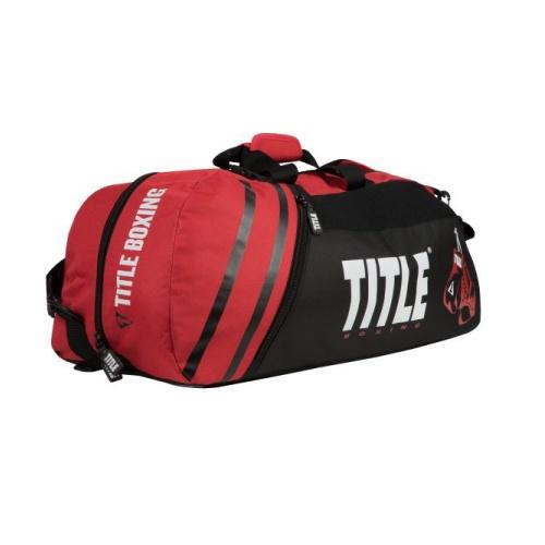 Title Boxing World Champion Sport Bag/Back Pack 2.0 Black Red - The Fight Factory