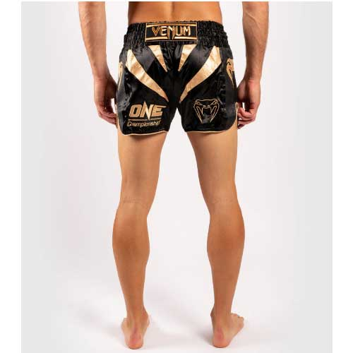 Venum x ONE FC Muay Thai Shorts - Black/Gold - The Fight Factory