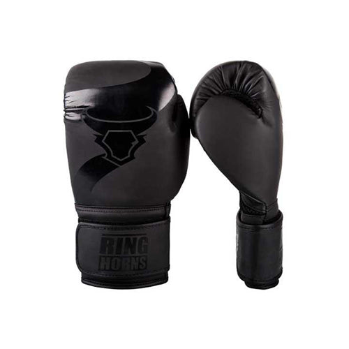 Ringhorns Charger Boxing Gloves - Black/Black - The Fight Factory