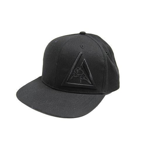 Gracie 3-D Embroidered Snapback Hat Black