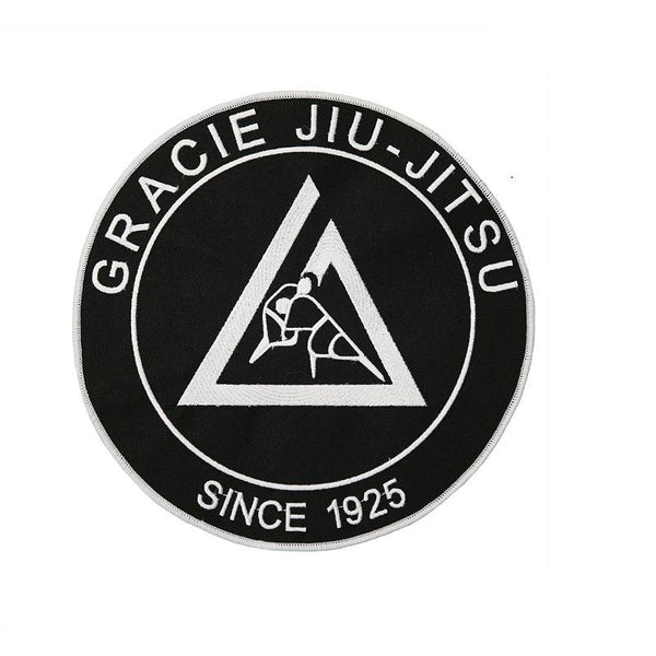 "Gracie Large Embroidered Gi Patch (9x9"") Black"