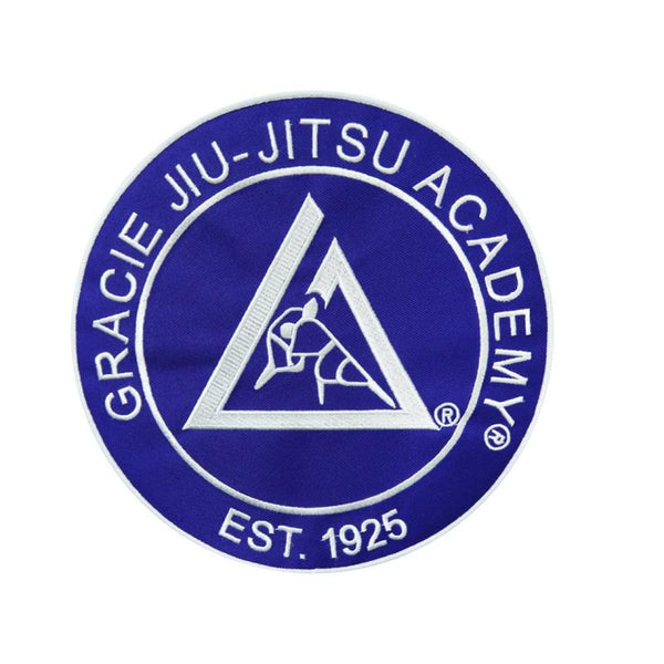 "Gracie Large Embroidered Gi Patch (9x9"") Blue"