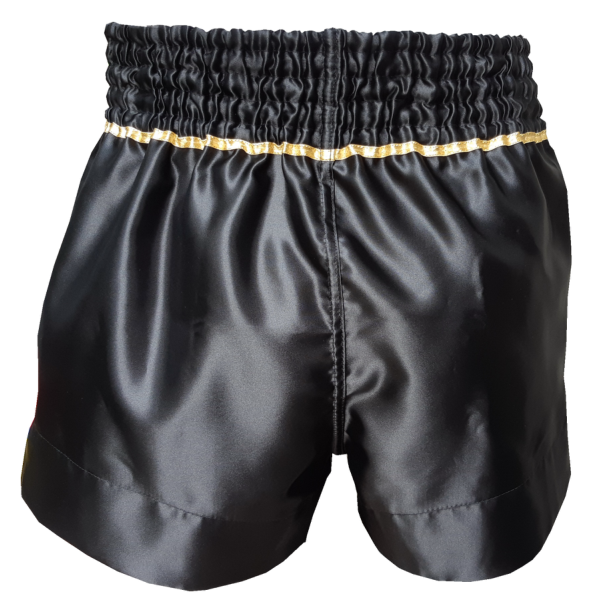Han Muay Thai Shorts Comfort Fit - Black - The Fight Factory