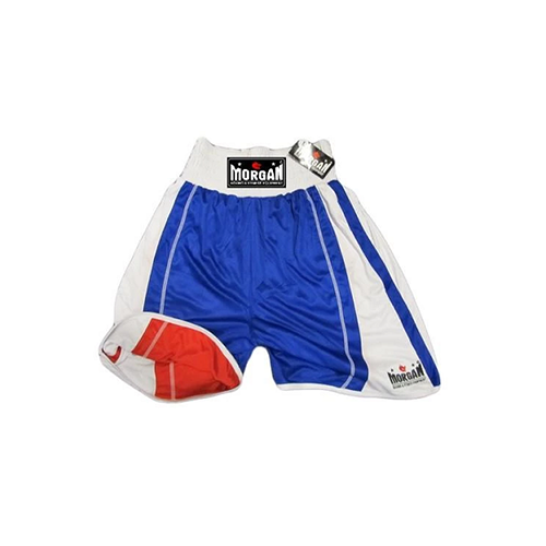 Morgan Boxing Shorts Reversible Amateur Blue/Red - The Fight Factory