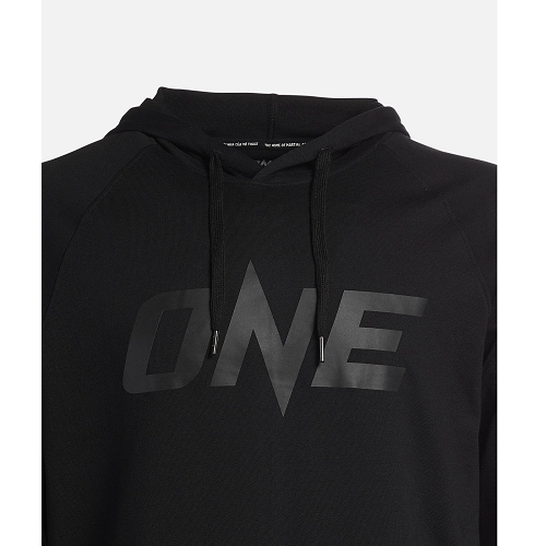 ONE Black Monotone Pullover Hoodie - The Fight Factory
