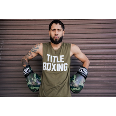 Title Boxing Basic TB Muscle Tee Khaki - The Fight Factory