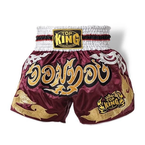 Top King Muay Thai Shorts Red Jom Thong - The Fight Factory
