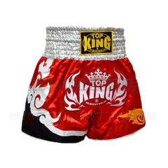 Top King Muay Thai Shorts Red White